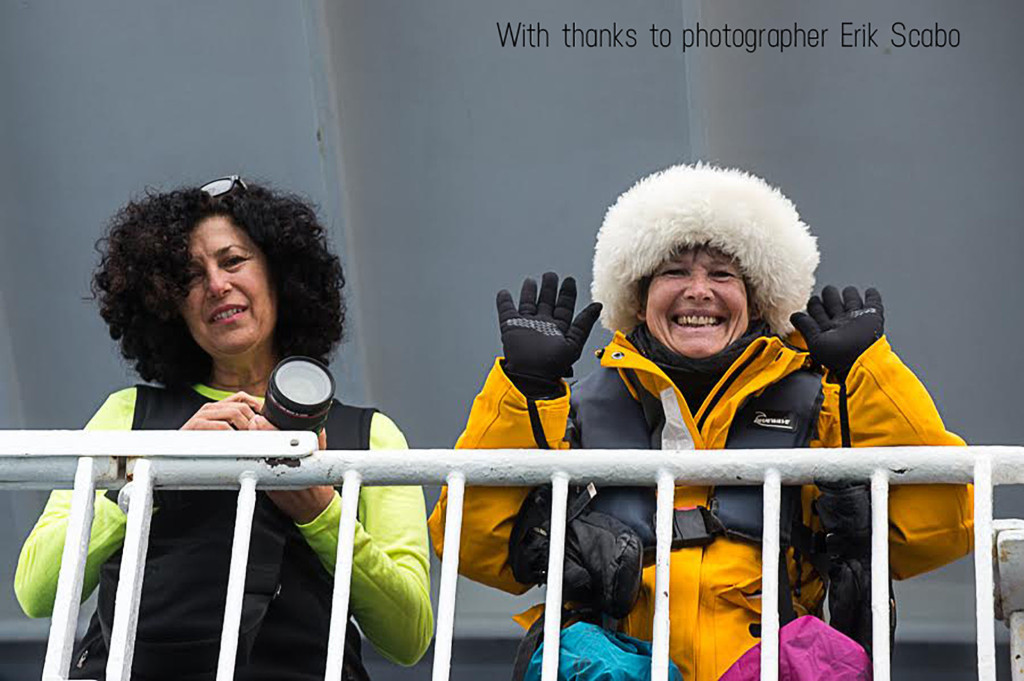 Adriene and Julie Polar bear greenland 1