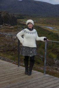 Julie Stephenson in the Iceland and Greenland landscape-240