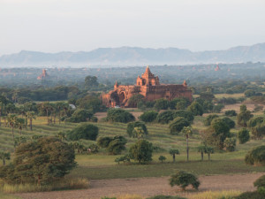 Myanmar Bagan Balloon over temples-9588