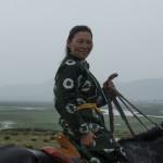 mongolia woman horseman